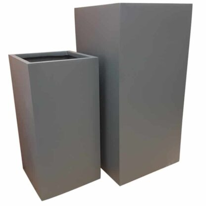 Matte Grey Tower | Fibreglass Planter