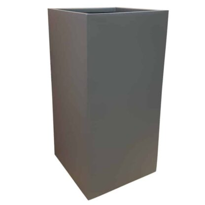 Matte Grey Tower Fibreglass Planter Alt