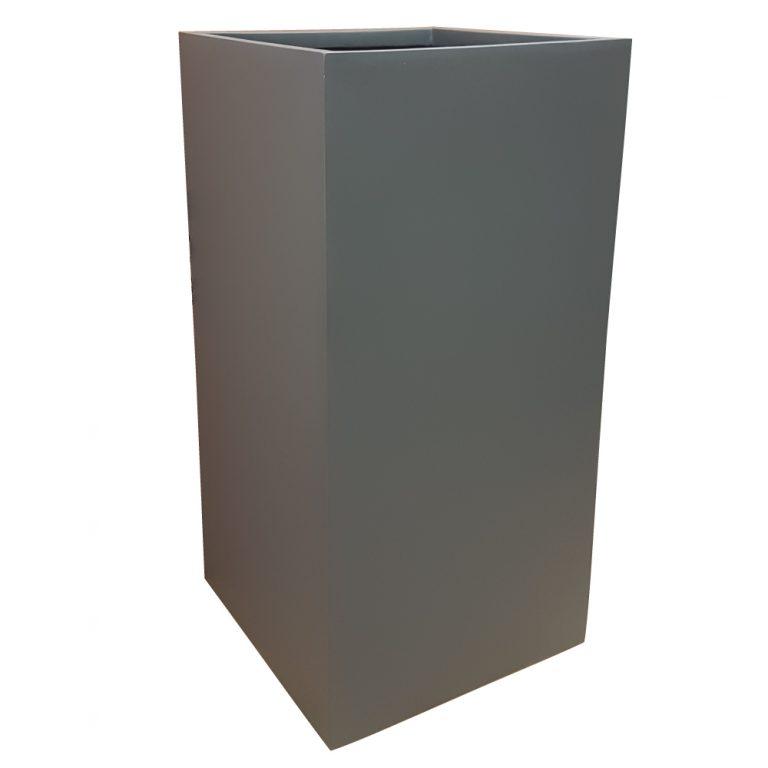 Matte Grey Tower Fibreglass Planter Alt