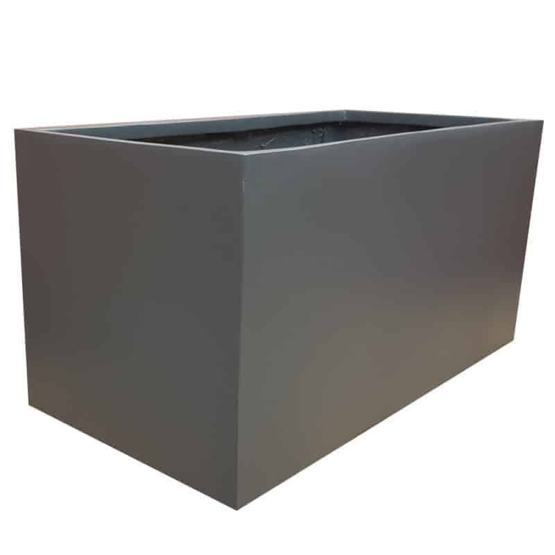 Matte Grey Trough Fibreglass Planter Alt