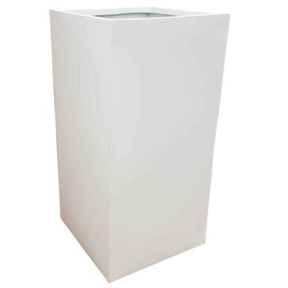 Matte White Tower Fibreglass Planter Alt