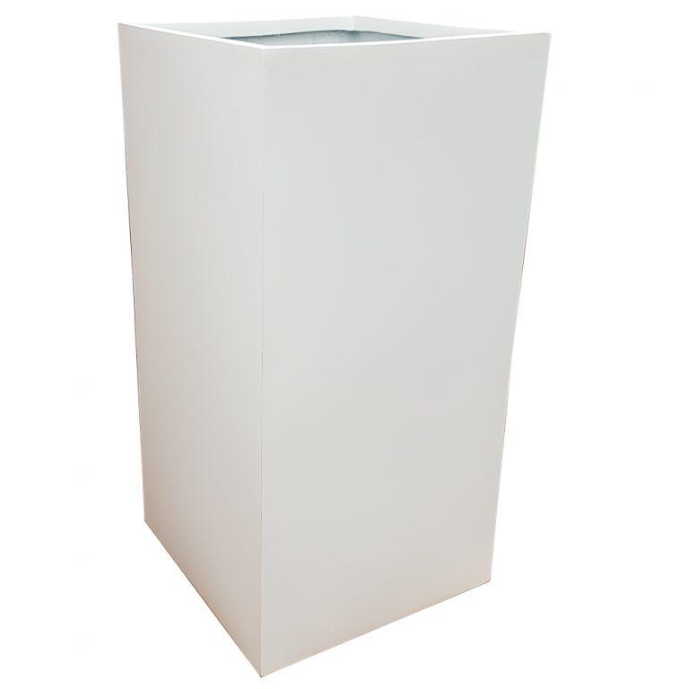 Matte White Tower Fibreglass Planter Alt