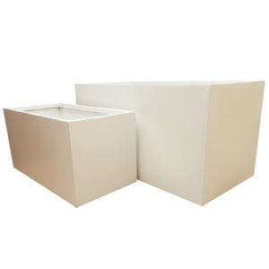 Matte White Trough Fibreglass Planter