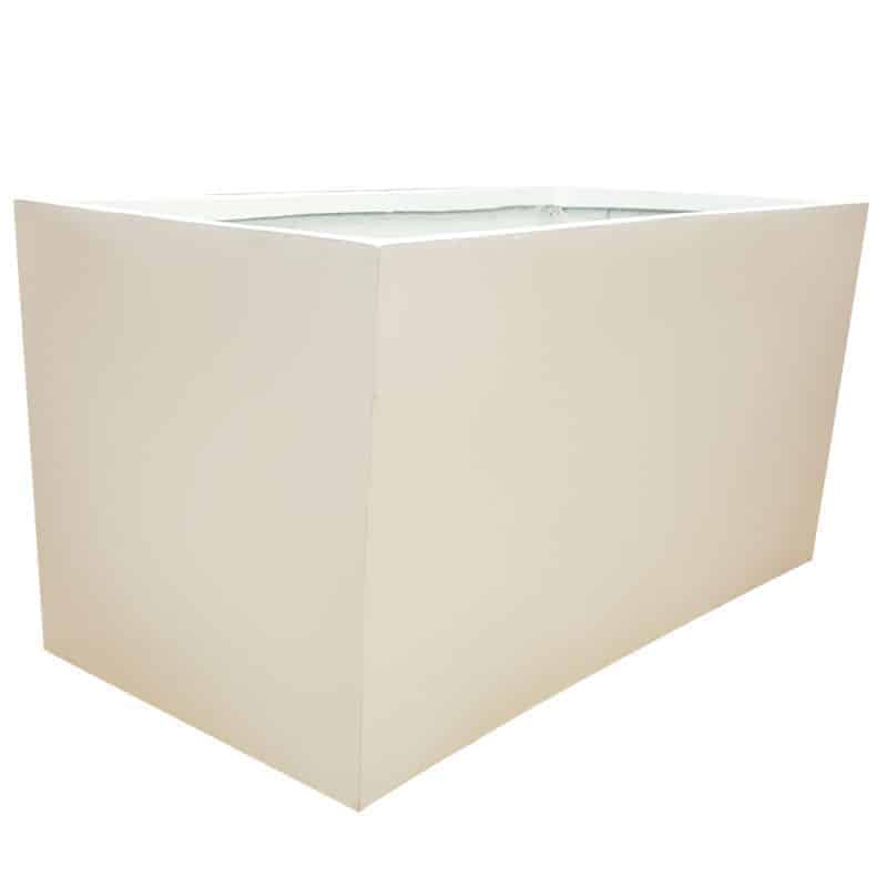 Matte White Trough Fibreglass Planter Alt