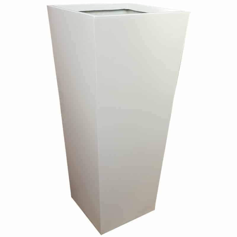 Tall Gloss White Flared Tower Fibreglass Planter Alt