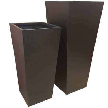 Matt Black Flared Square | Fibreglass Planter
