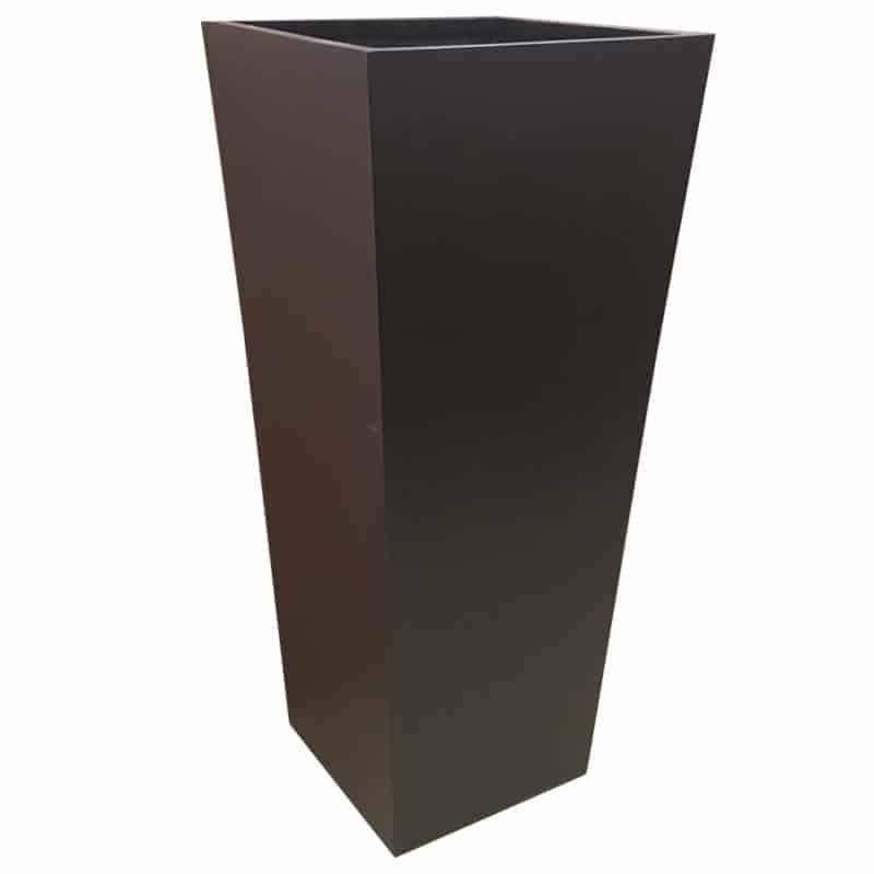Tall Matte Black Flared Tower Fibreglass Planter Alt