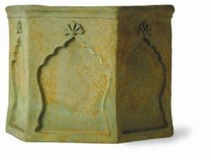Fibreglass Arabesque Bronzage Finish Planter