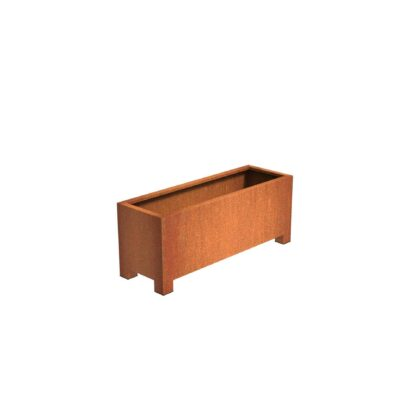 Andes Corten Steel Trough Planters with Feet by Adezz 150x50x60cm