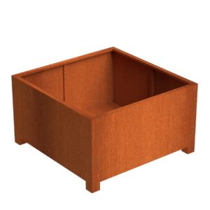 Andes Cube With Feet Adezz Corten Steel Planters 140x140x80cm