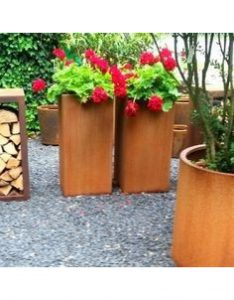 Andes Tower Adezz Corten Steel Planters