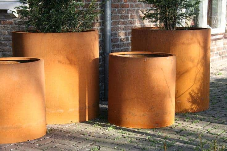 Atlas Column Adezz Corten Steel Planters Alt 1