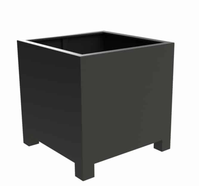 Florida Cube With Feet | Adezz Aluminium Planters