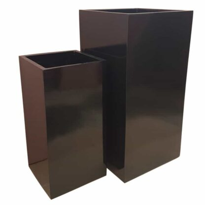 Glossy Black Tower | Fibreglass Planter
