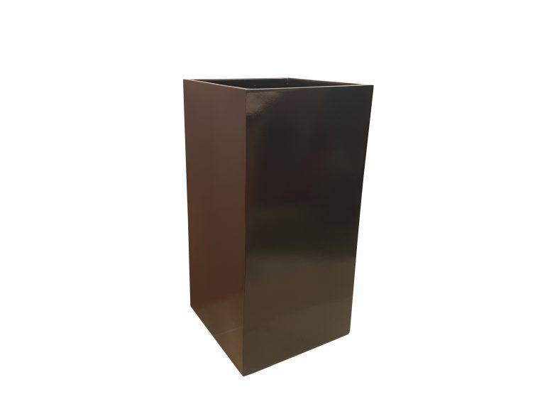 Glossy Black Tower Fibreglass Planter Alt
