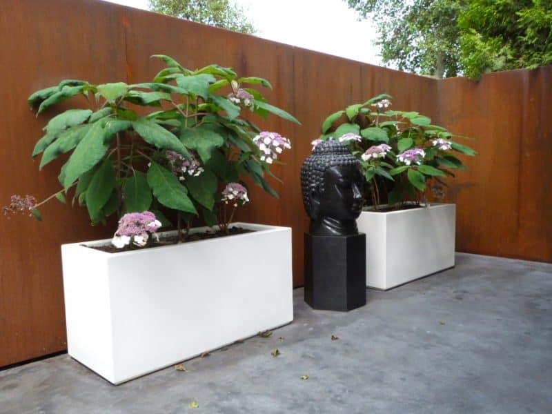 buxus trough adezz fibreglass planter. Black Bedroom Furniture Sets. Home Design Ideas