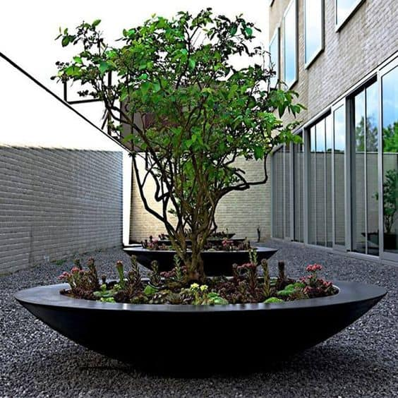 Ceder Low Bowl Adezz Fibreglass Planter Alt 1