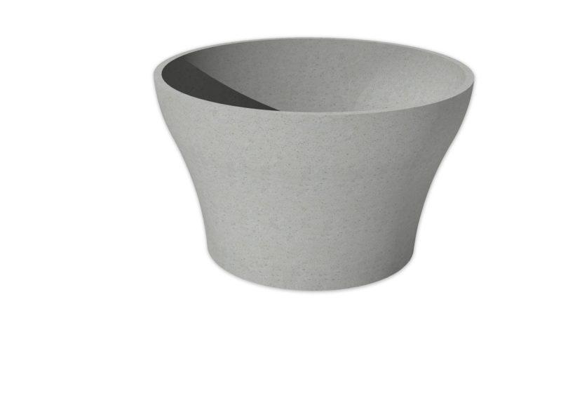 Picasso Curved Column | Adezz Polymer Concrete Planter