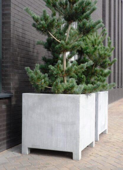 Vadim Cube Adezz Galvanized Planter Alt 2