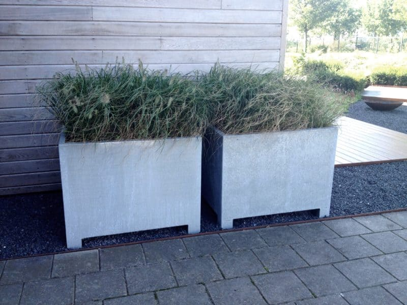 Vadim Low Cube Adezz Galvanized Planter