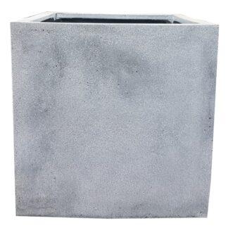 Grey Cube   Fibrestone Planter