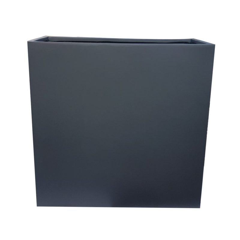 Matte Grey Barrier Fibreglass Planter Alt 1