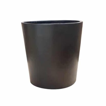 Matte Black Round | Fibreglass Planters