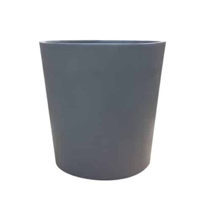 Matte Grey Round | Fibreglass Planter