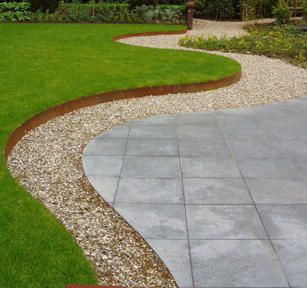 Corten Steel Straight Garden Edging by Adezz alt 2