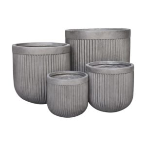 Clayfibre Ribbed Egg Pot Planter