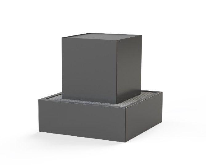 Aluminium Water Block by Adezz RAL 7021 70x70x70cm