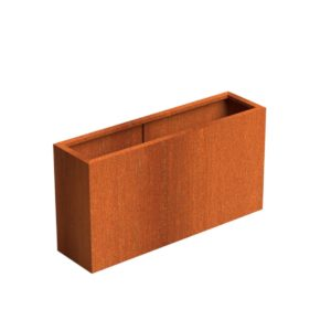 Andes Trough Adezz Corten Steel Planters 150x40x80cm