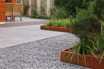 Corten Steel Folded Garden Edging by Adezz alt 1