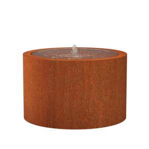 Corten Steel Round Water Table by Adezz