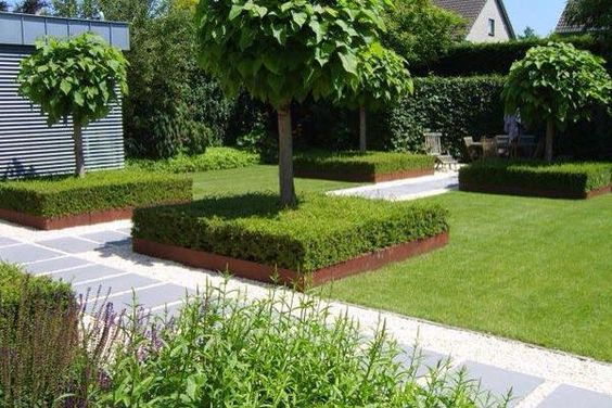 Corten Steel Straight Corner Garden Edging by Adezz alt 1