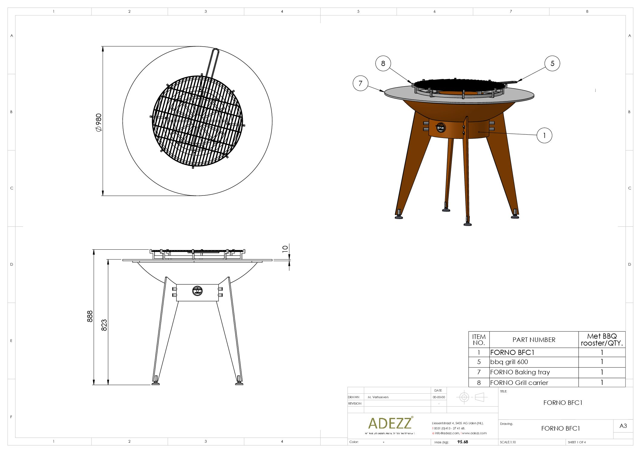FORNO technical drawing