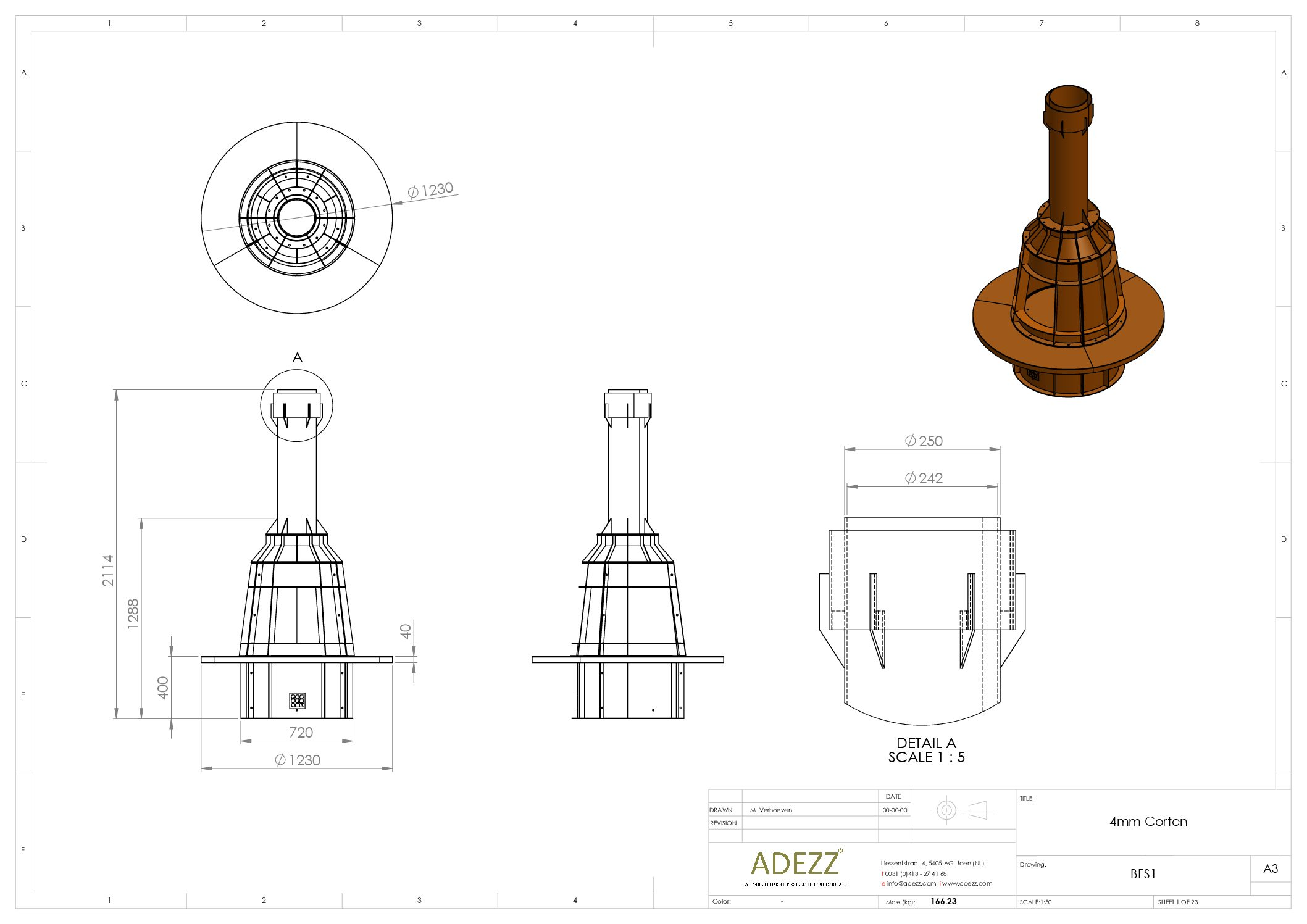 Form Log Burner by Adezz Technical Drawing