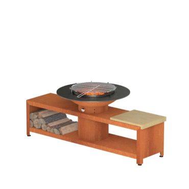 Forno Grill with Storage by Adezz 200x98x76cm