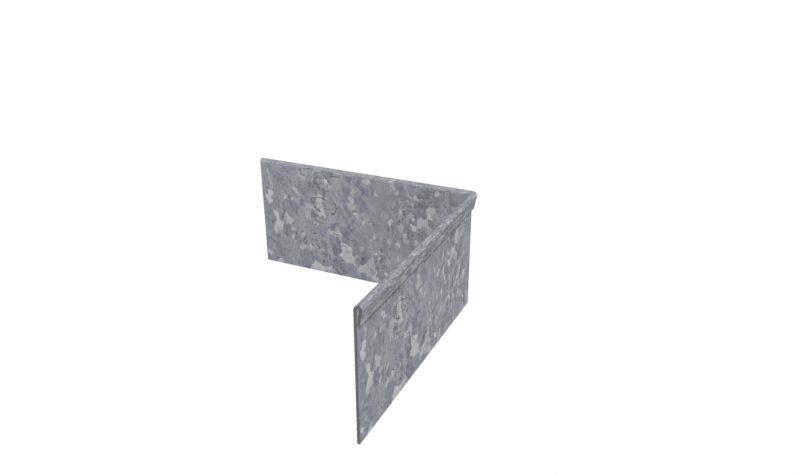 Galvanised Steel Folded Corner Edging By Adezz