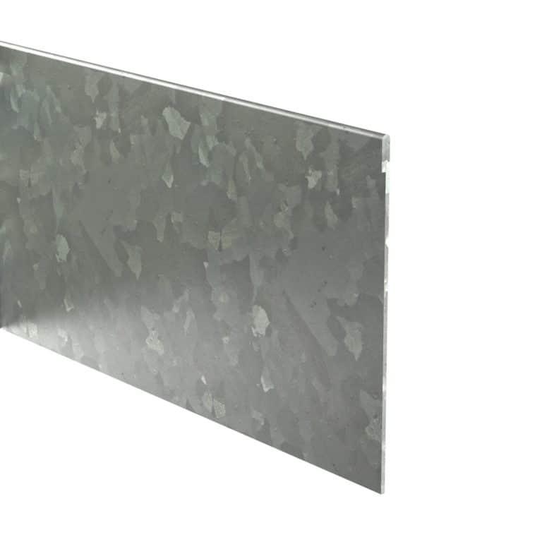 Galvanised Steel Straight Folded Garden Edging by Adezz