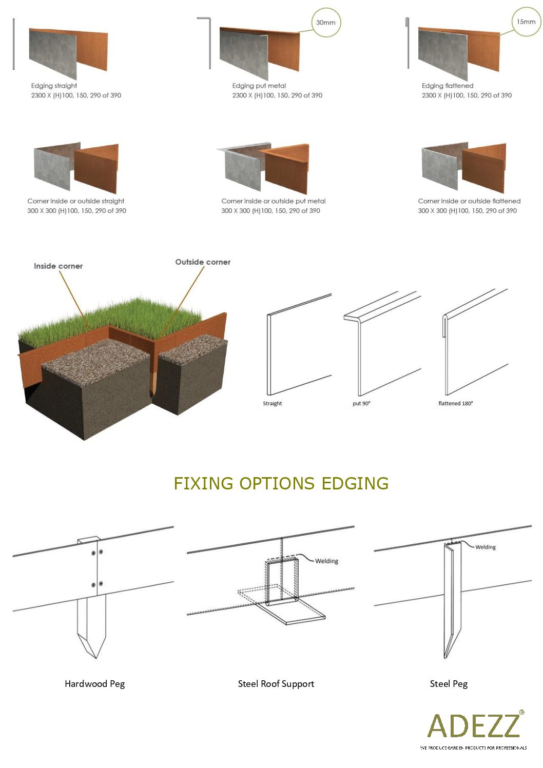 Corten Steel Lipped Garden Edging By
