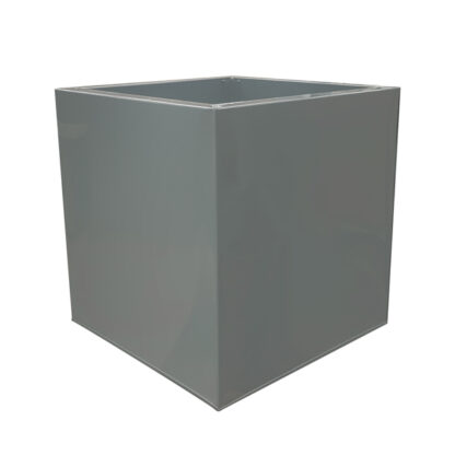 Grey Powder Coat Galvanized Cube Zinc Planter