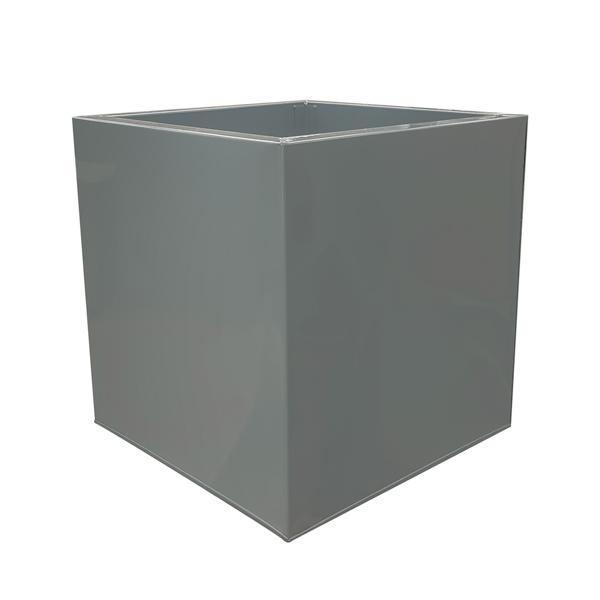 Grey Powder Coat Galvanized Cube Zinc Planter