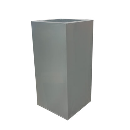 Grey Powder Coat Galvanised Square Tower | Zinc Planter