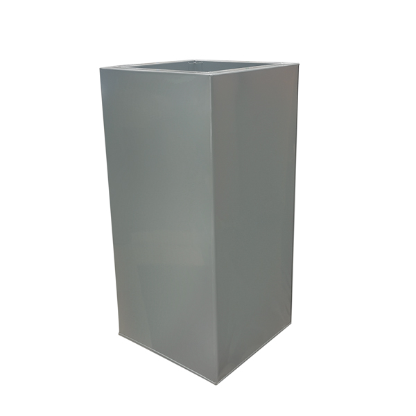 Grey Powder Coat Galvanised Square Tower | Zinc Planter