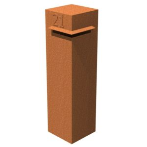 Corten Steel Letter Box by Adezz 30x30x120cm
