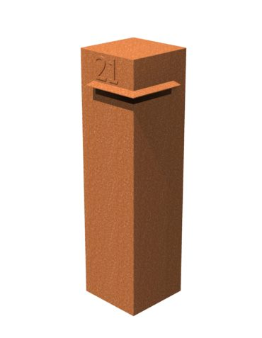 Corten Steel Letter Box by Adezz alt 1