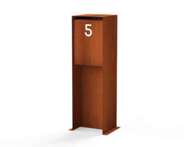 Corten Steel Letter Box by Adezz alt 2