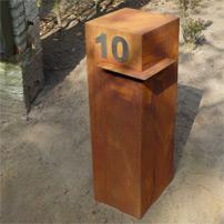 Corten Steel Letter Box by Adezz alt 4