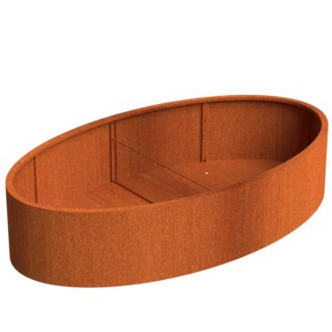 Corten Steel Ellipse Planters by Adezz